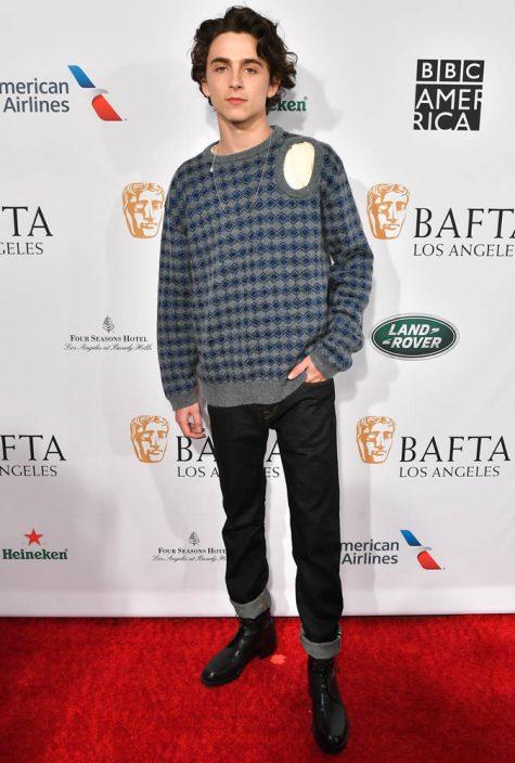 diễn viên Timothée Chalamet tại thảm đỏ BAFTA 2