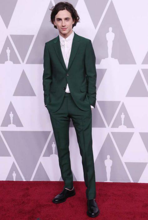 diễn viên Timothée Chalamet tại thảm đỏ Oscar