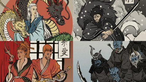 Bộ ảnh Trò chơi Vương quyền lấy cảm hứng Nhật Bản