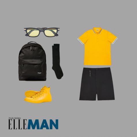 Style Canlendar Áo polo nam vàng giày vàng 7