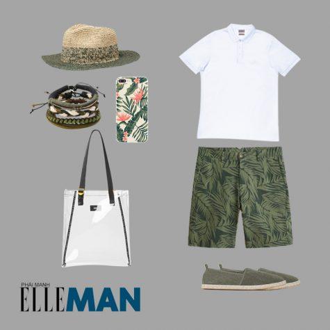 Style Canlendar Áo polo nam trắng quần xanh 6