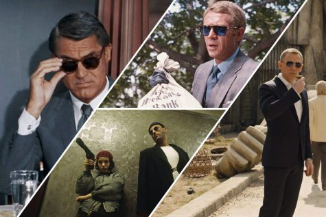 các quý ông ăn mặc đẹp đeo kính râm trong phim