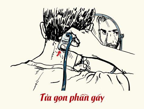 chăm soc tóc bằng cách tỉa gọn phần gáy