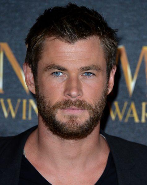 diễn viên chris hemsworth - tóc kết hợp với râu