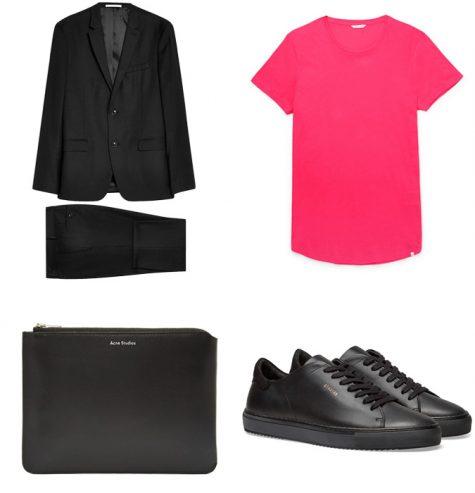phối màu trang phục - phối trang phục màu đen và neon