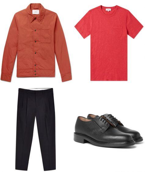 phối màu trang phục - phối trang phục màu đỏ và cam