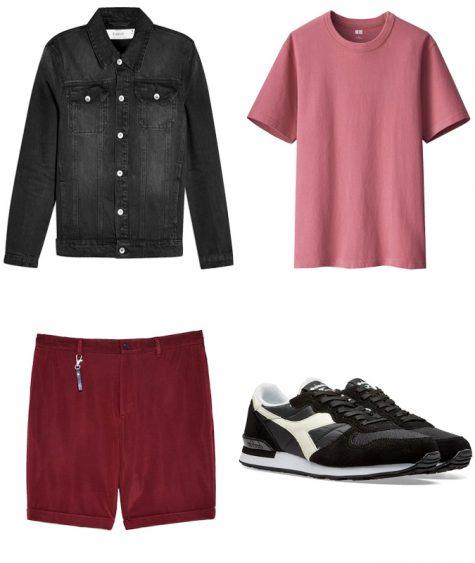 phối màu trang phục - phối trang phục màu đỏ và màu hồng