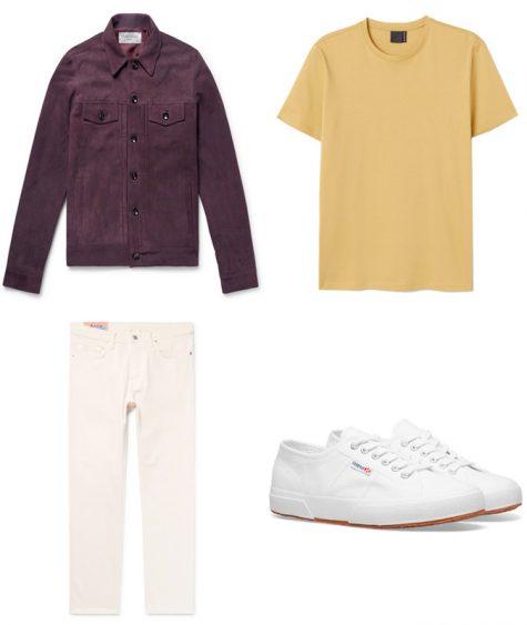 phối màu trang phục - phối trang phục màu vàng và tím