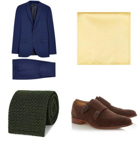 phối màu trang phục - phối trang phục màu xanh la cây và vàng