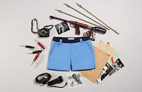 phối đồ mùa hè - quần shorts bơi