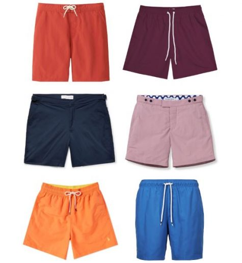 đồ bơi nam phong cách color block