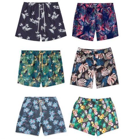 đồ bơi nam phong cách floral