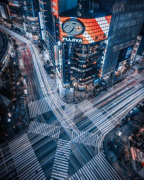 bộ ảnh đẹp - đường phố tokyo nhìn từ trên xuống