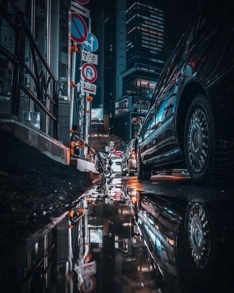 bộ ảnh đẹp - ôtô đỗ bên đường
