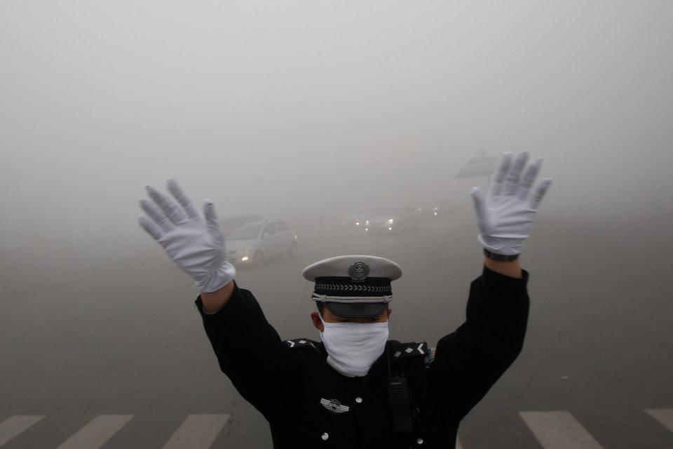 môi trường thế giới - sương mù lẫn khói ở trung quốc và ấn độ