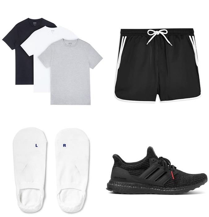 quần áo nghỉ mát - cách phối trang phục tập gym