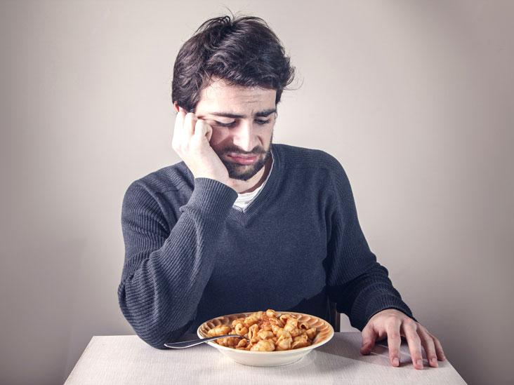 hình ảnh người đàn ông có triệu chứng chán ăn