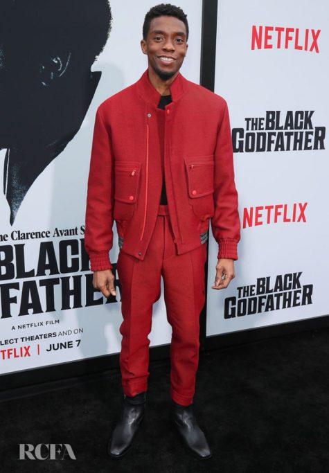 Chadwick Boseman trở lại top sao nam mặc đẹp ở vị trí thứ 3. Ảnh: RCFA