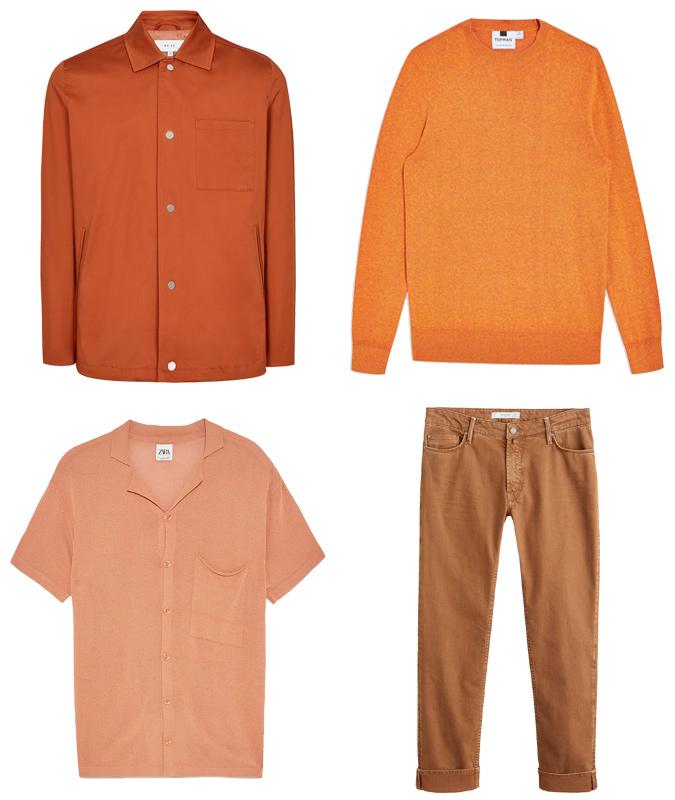cách phối màu-các trang phục màu cam