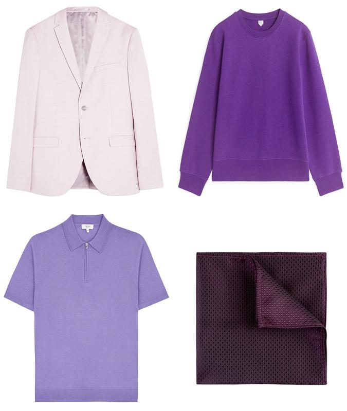 cách phối màu-các trang phục màu tím