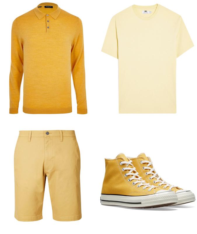 cách phối màu-các trang phục màu vàng