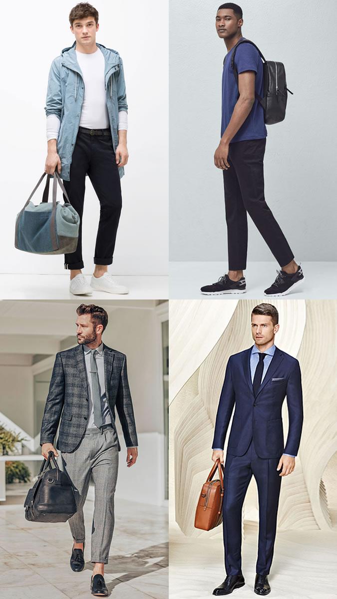 mua túi xách nam đẹp - túi xách không phù hợp với trang phục
