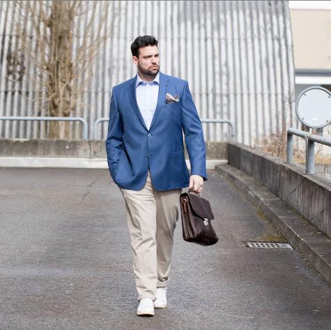 phối đồ cho đàn ông mập mẫu nam mặc đồ formal