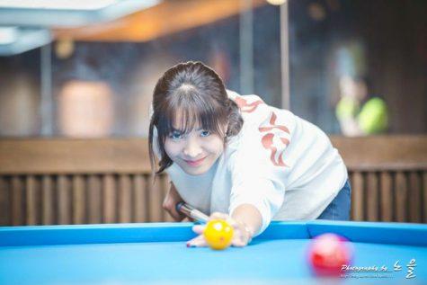 cơ thủ bida-Srong Pheavy tập luyện