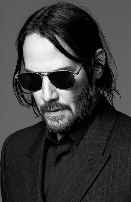 kiểu tóc nam dài của diễn viên keanu reeves