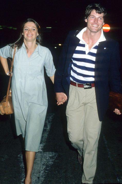 phong cách thời trang sân bay của Christopher Reeve và Gae Exton 1979