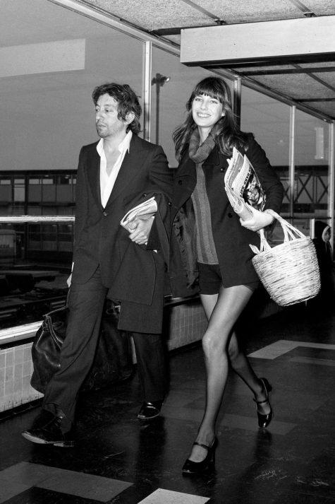 phong cách thời trang sân bay của Jane Birkin và Serge Gainbourg 1971