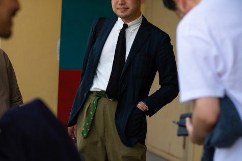bài học phong cách thời trang tại Pitti Uomo ss20 thắt lưng cà vạt