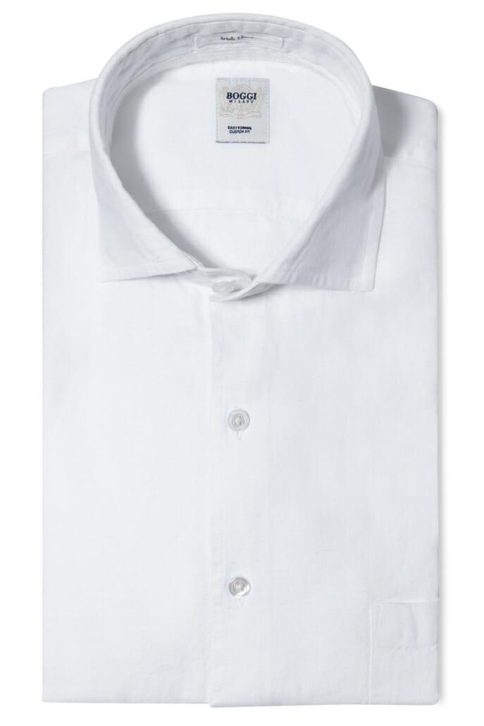 gấp quần áo-áo sơ mi trắng đã được gấp