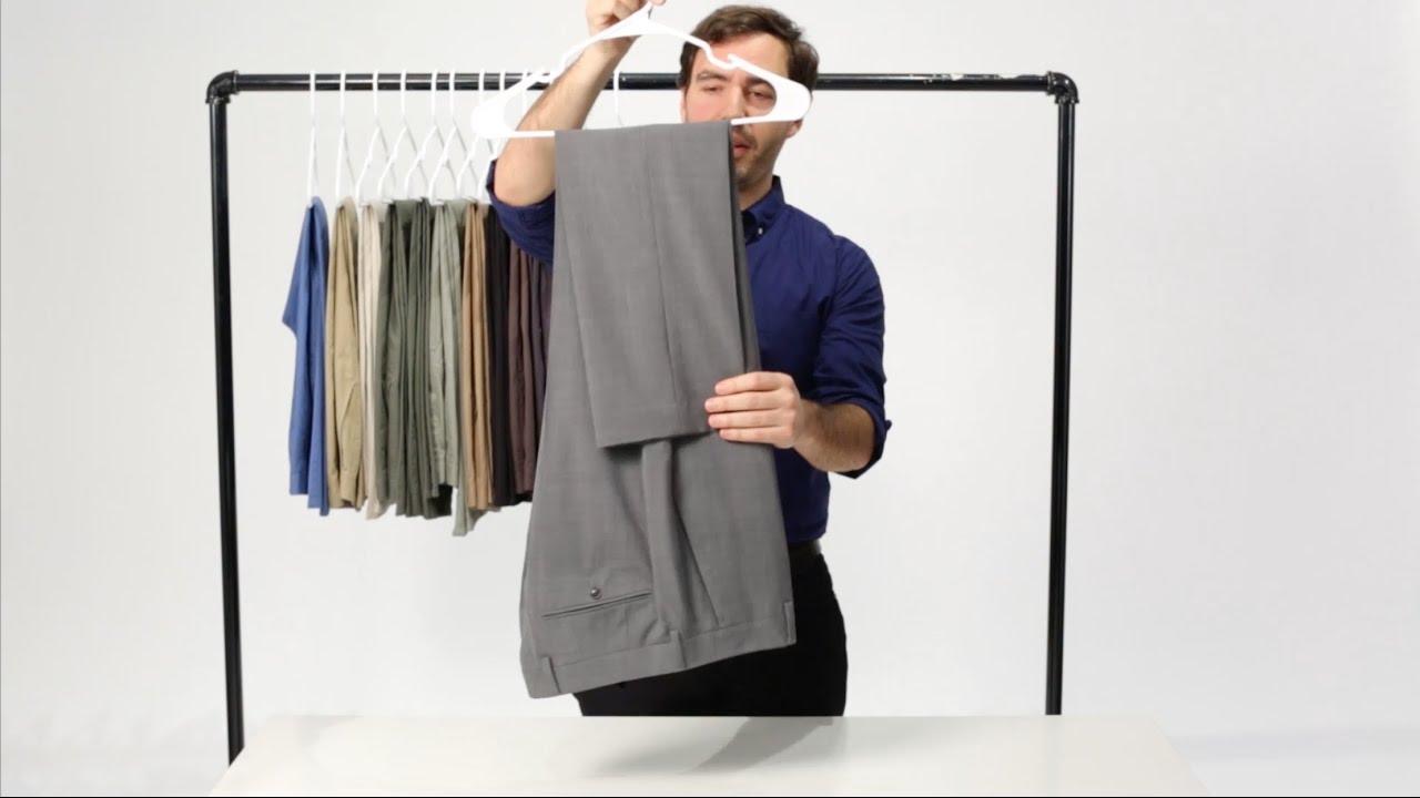 quần dài gấp theo phương pháp Savile Row