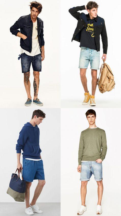 quần đùi nam chất liệu denim cho mùa hè