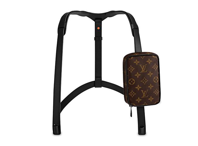 túi thời trang của hãng louis-vuitton logo monogram một túi trước ngực