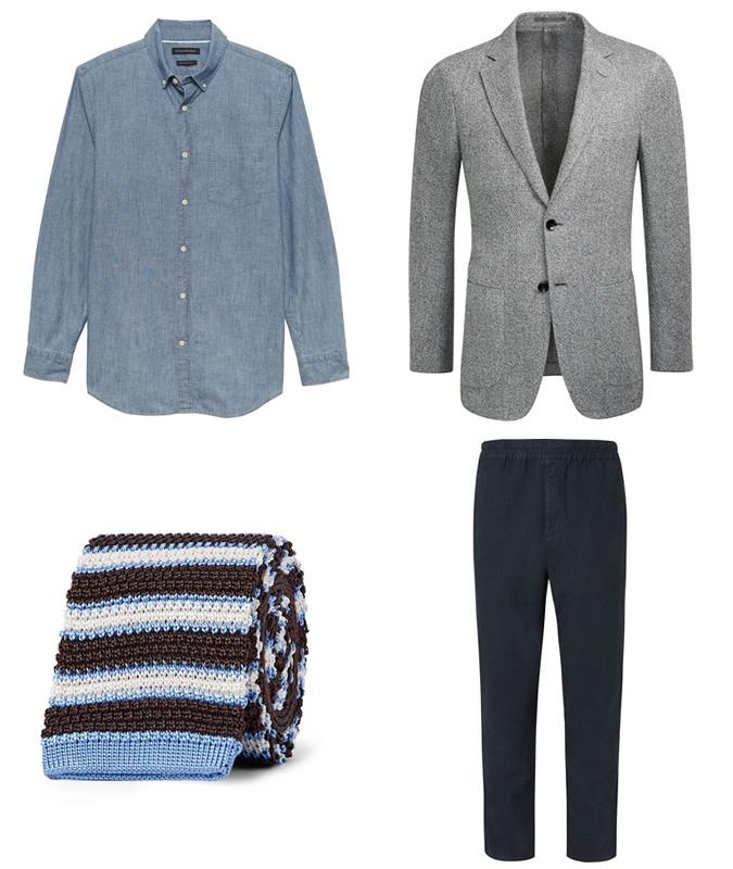 phụ kiện mùa hè-cách phối hợp cravat len