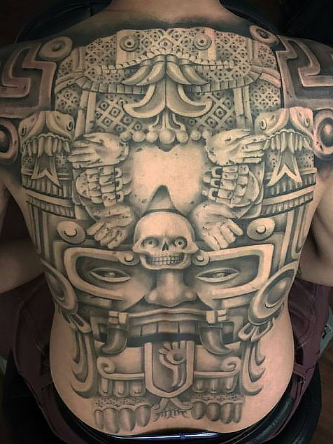 hình xăm bộ lạc-hình xăm bộ lạc Mexico