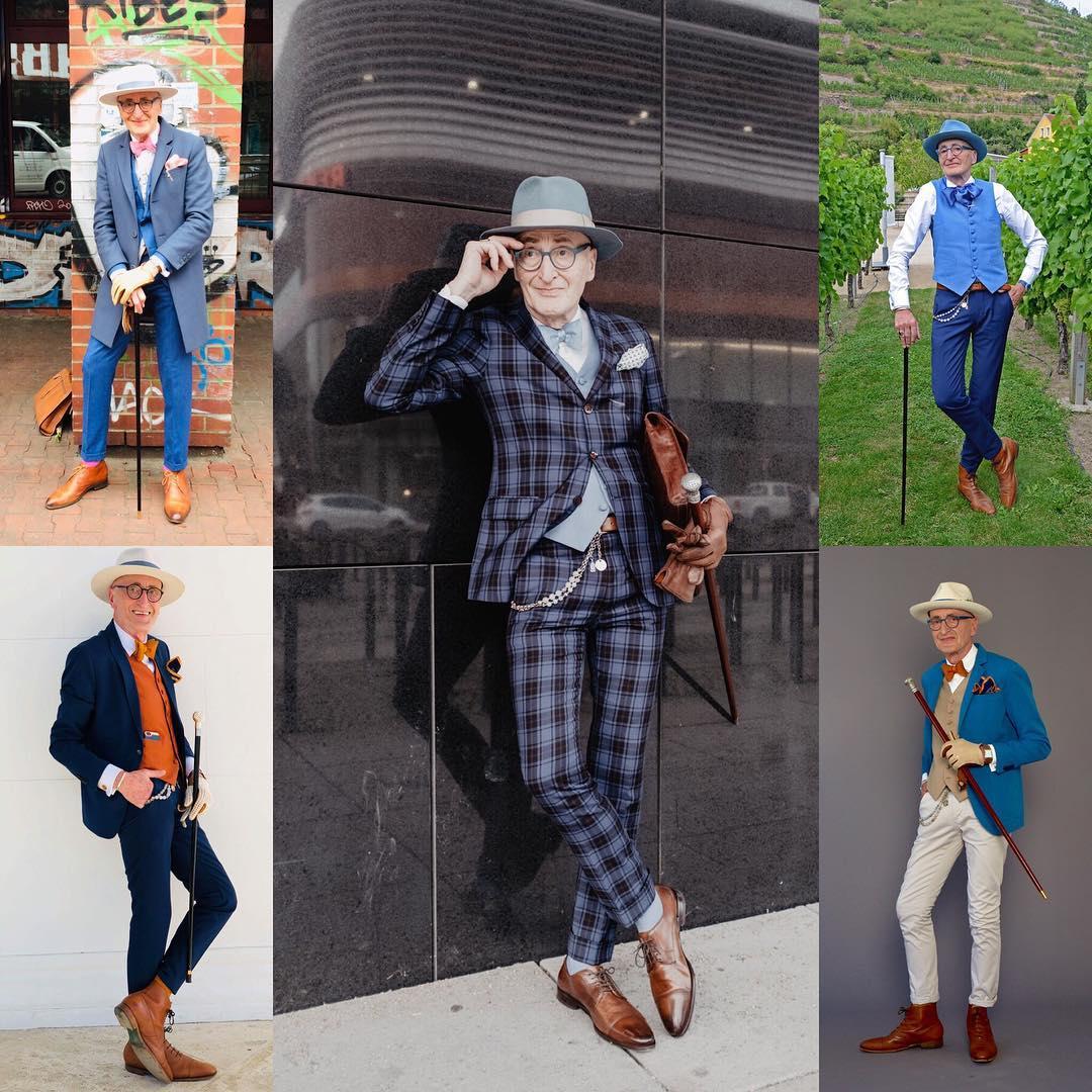 phong cách thời trang - 5 outfits của cụ ông