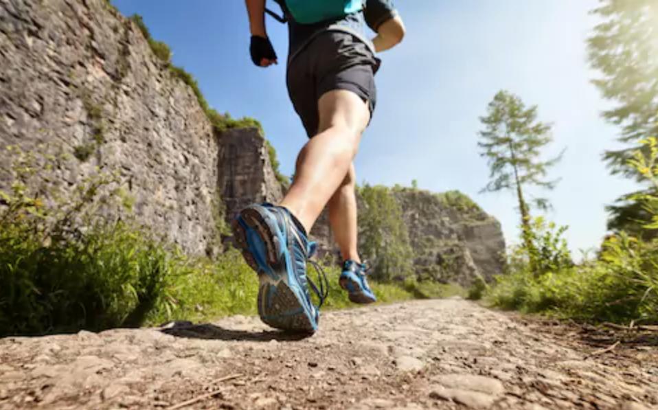 vận động viên nam giới chạy bộ mỗi ngày trong rừng