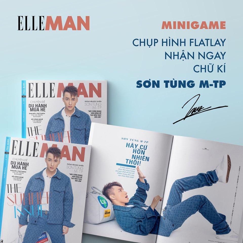 bìa báo ELLE Man Sơn Tùng M-TP