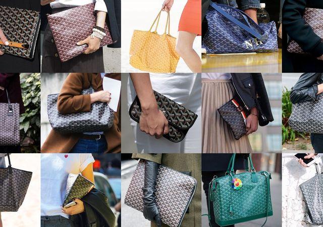 các sản phẩm túi nổi tiếng của thương hiệu goyard
