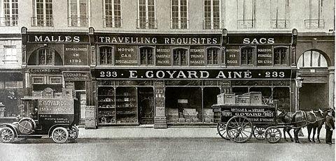 của hàng đầu tiên của goyard tại Pháp