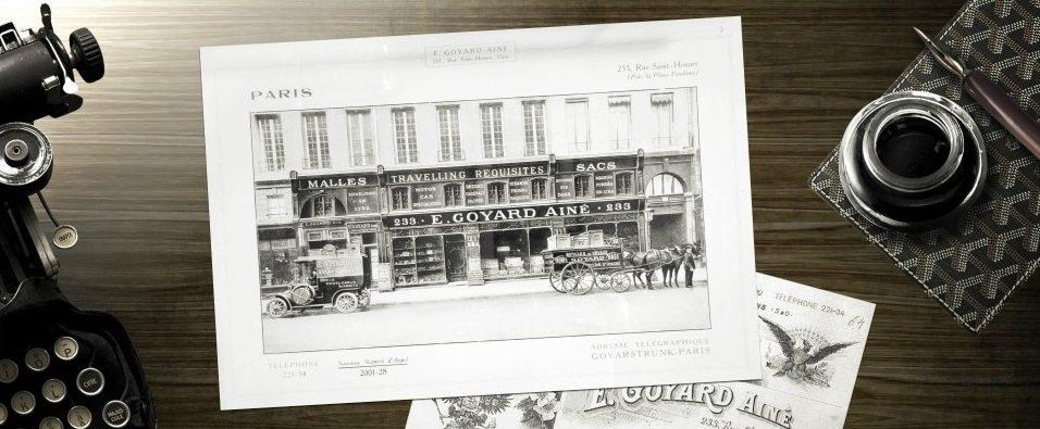 cửa hàng đầu tiên của logo thương hiệu goyard