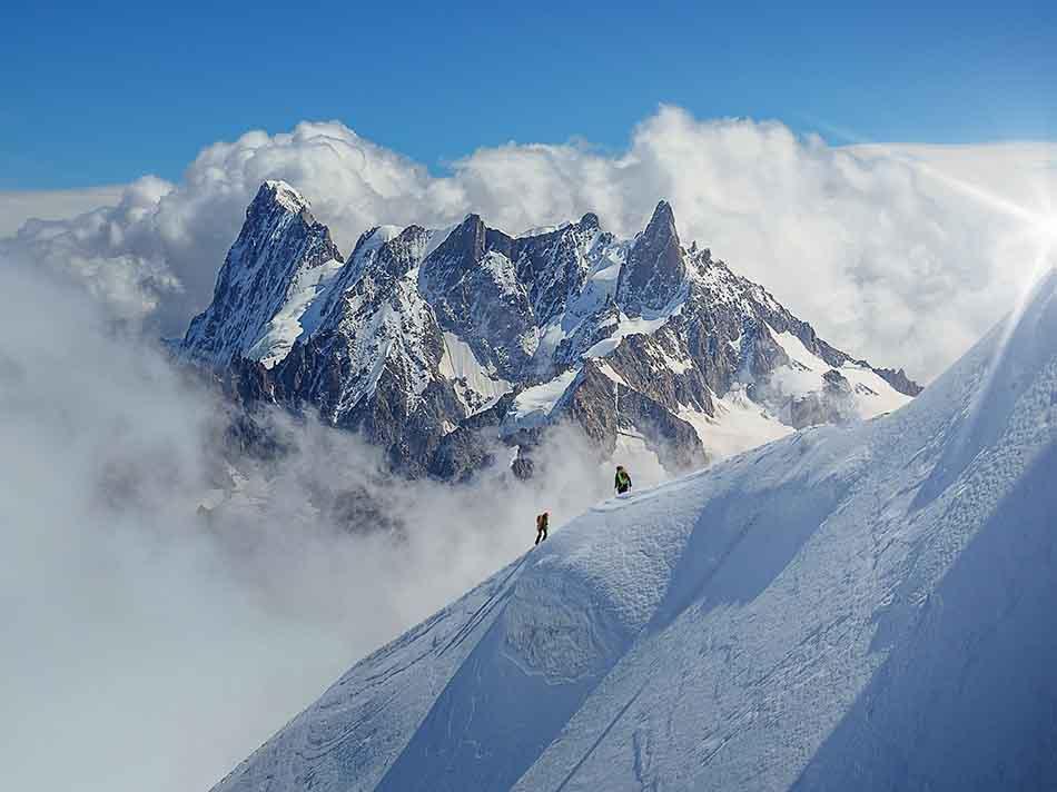 Đỉnh Mont Blanc hùng vĩ
