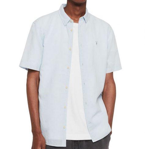 áo denim nam-Allsaints Wayland Shirt