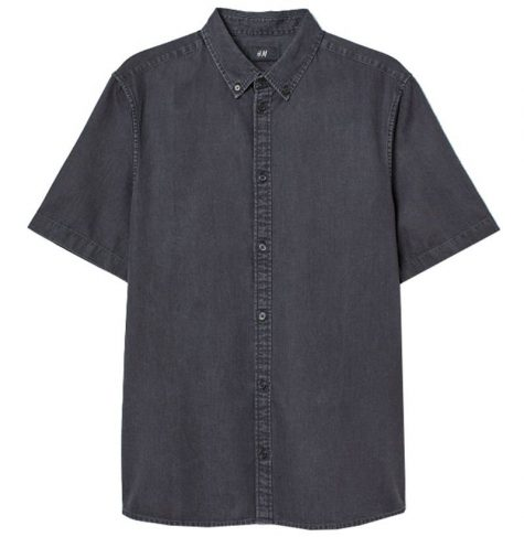 áo denim nam-H&M Denim Shirt