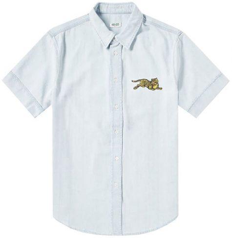 áo denim nam-Kenzo Jumping Tiger Denim Shirt