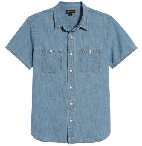 áo denim nam-Madewell Chambray Shirt