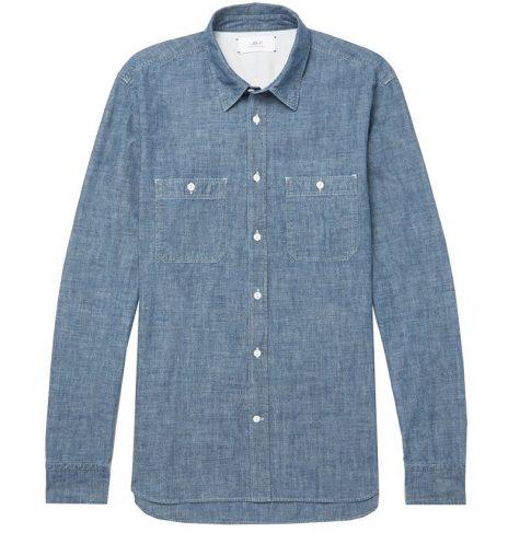 áo denim nam-Mr P. Selvedge Shirt
